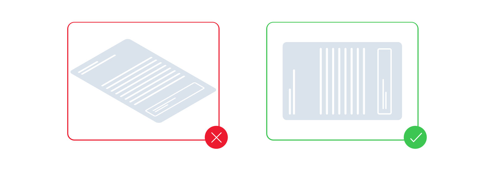 Make sure the scan/photo of your document is straight and not distorted