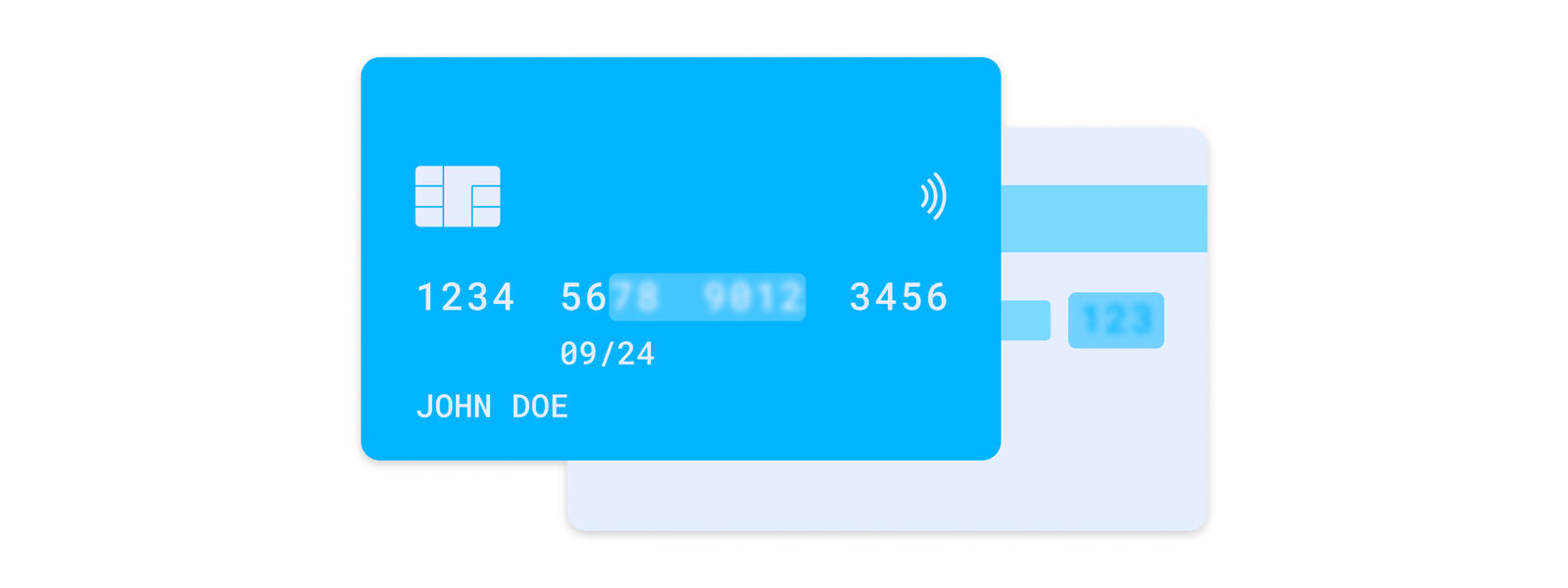 Leave the first 6 and last 4 digits of the card number visible (please cover the rest numbers). Cover the security code on the back side of your card (CVV)